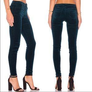 J BRAND NWT Emerald Velvet Super Skinny Jeans